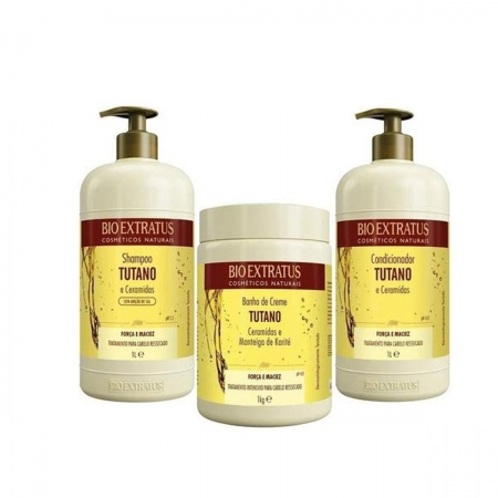 Kit Bio Extratus Tutano Shampoo 1L e Cond. 1L Másc. 1kg
