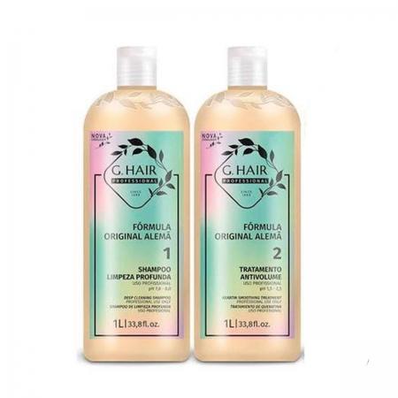 Kit Inoar Alemã Progressiva Shampoo 1L e Alisante 1L