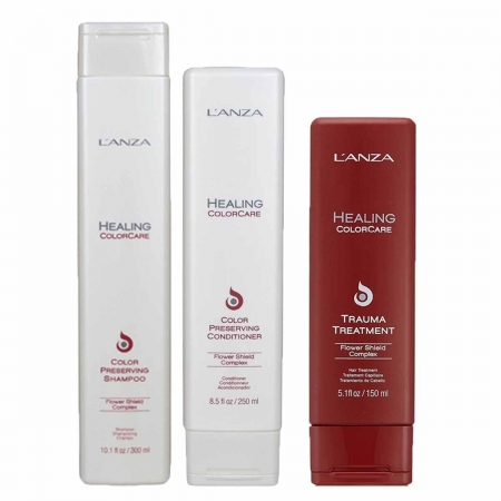 Kit Lanza healing Color Sh300ml Cond250ml e Trauma Treatment150ml