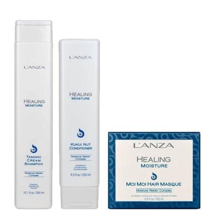 Kit Lanza Healing Moisture Sh300ml Cond250ml e Másc200ml