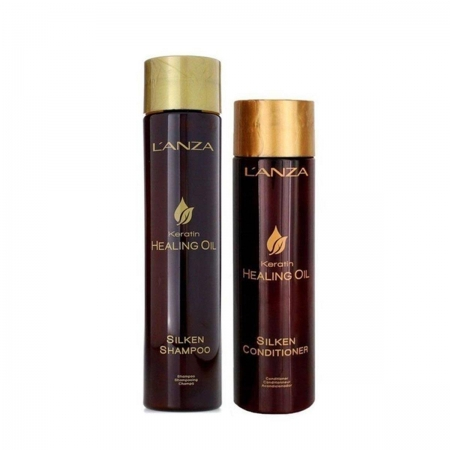 Kit Lanza Keratin Healing Oil Sh300ml e Cond250ml Nutrição Luxuosa