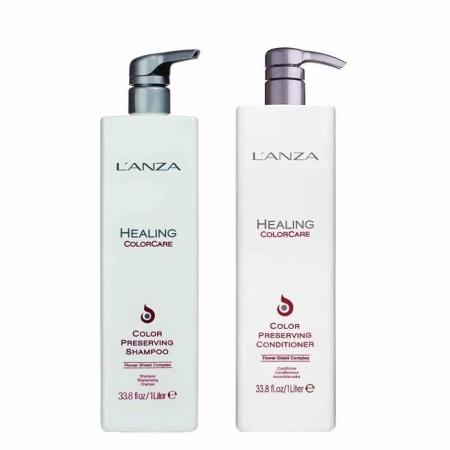 Kit Lanza Shampoo Healing Color Care Sh. 1 Litro e Cond. 1 Litro