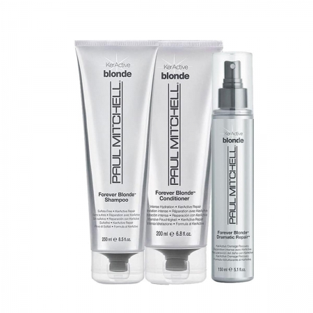 Kit Paul Mitchell Forever Blonde Sh.250ml Cond.200ml Leave in 150ml