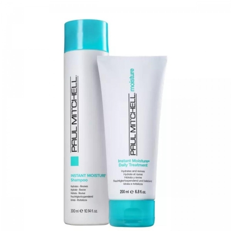 Kit Paul Mitchell Moisture Shampoo 300ml e Cond.200ml  Cab.  Seco