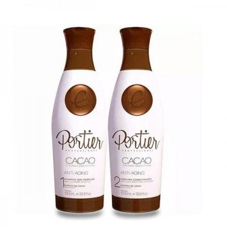 Kit Portier Progressiva  Cacao Shampoo 1L Máscara Alisante 1 lLitro
