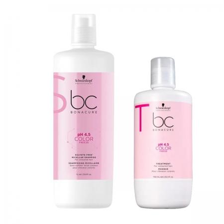 Kit Schwarzkopf Color Freeze Shampoo 1L e Máscara 750ml