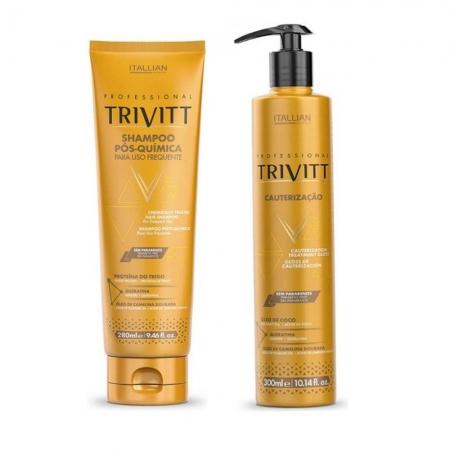 Kit Trivit Sh. Pós Quimica 280ml  + Cauterização300ml