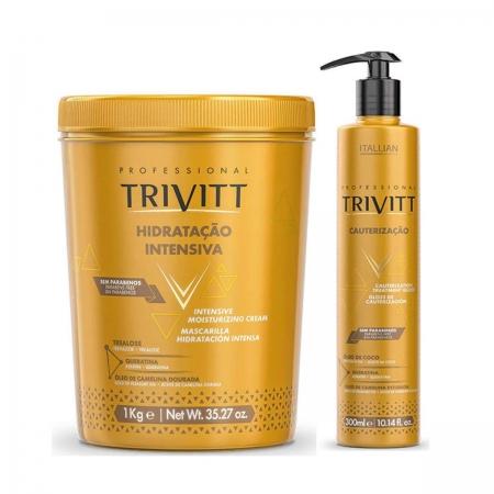 Kit Trivitt Máscara de Hidratação 1kg e Cauterização 300ml