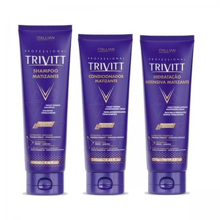 Kit Trivitt Matizante Sh280ml Cond.250ml e Másc Matizante250ml