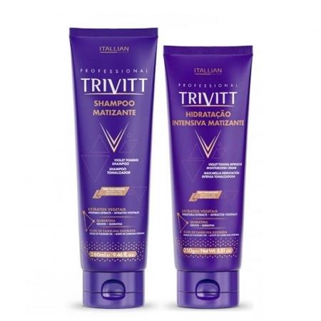 Kit Trivitt Matizante Shampoo280ml e Máscara250ml Cab. Loiros