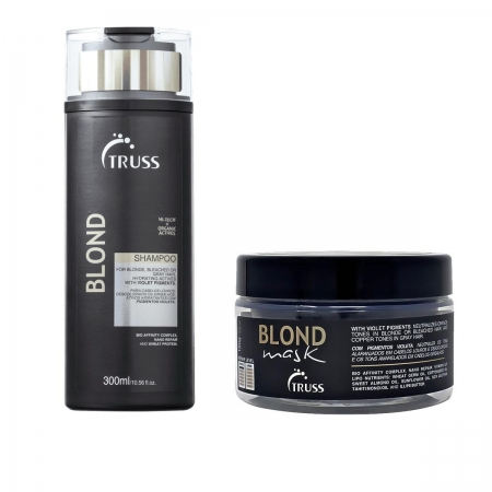 Kit Truss Blond Shampoo300ml e Máscara180gr Cabelos Loiros