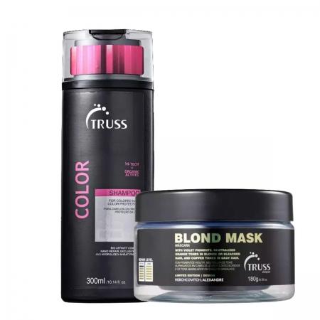 Kit Truss Color Shampoo300ml e Máscara Blond 180gr