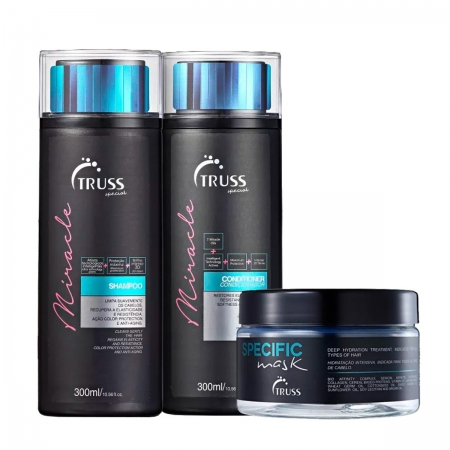 Kit Truss Miracle Shampoo300ml Condic.300ml e Másc. Specific Mask180gr