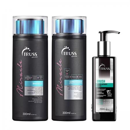 Kit Truss Miracle Shampoo 300ml Cond. 300ml e Brush 250ml