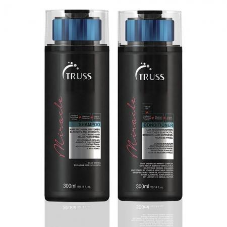 Kit Truss Miracle Shampoo 300ml e Condicionador 300ml Cabelos Secos