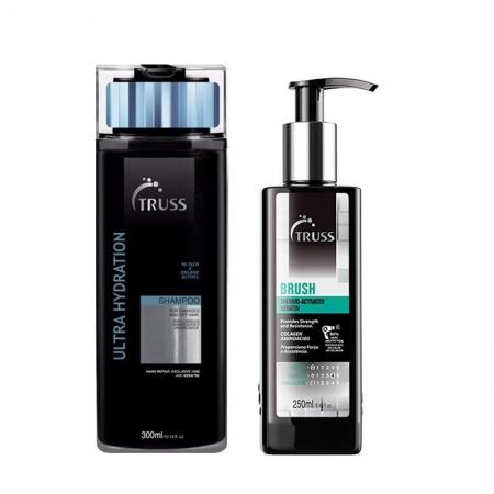 Kit Truss Shampoo Hydration 300ml e Brush260ml