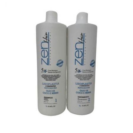 kit Zen Escova Progresiva Shampoo1Litro eAlisante1Litro(Embalagem Nova