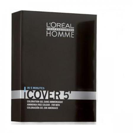 Loreal Profissional Homme Cover 5 (Castanho N°4 com Oxidante vol. 20)