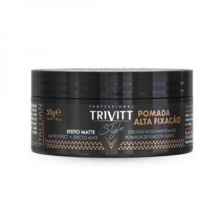 Trivitt Style Pomada Alta Fixação Efeito Matte 50g