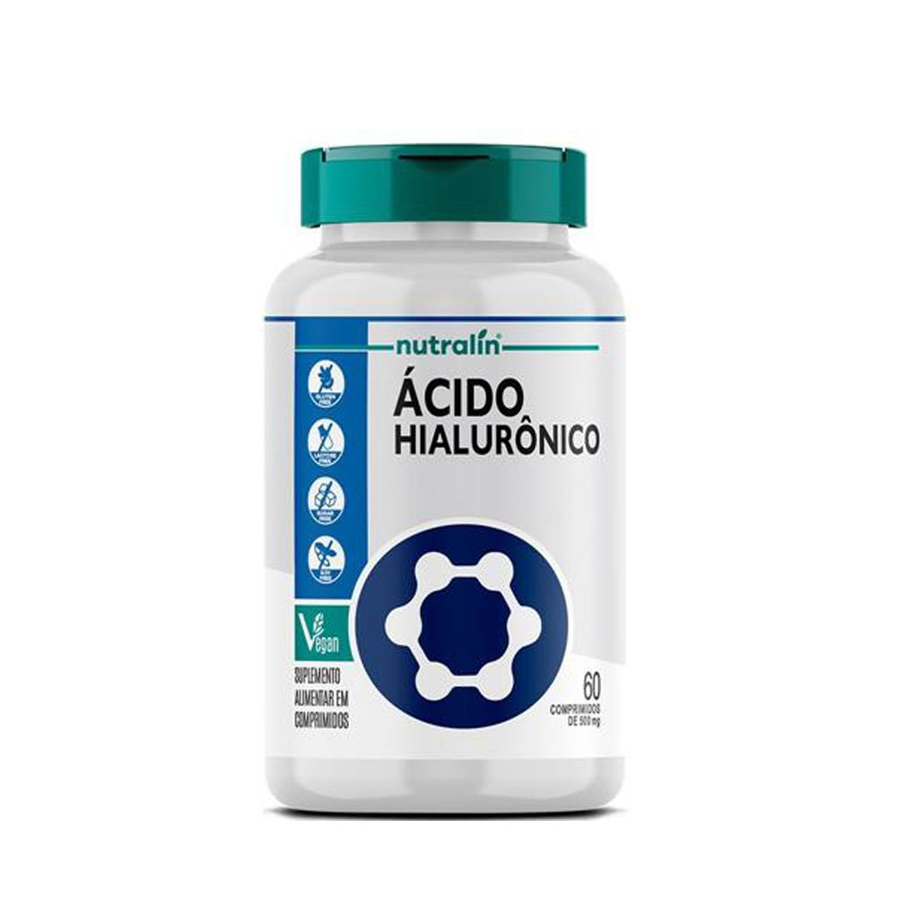 Ácido Hialurônico Suplemento Nutralin 60 Caps. 500mg