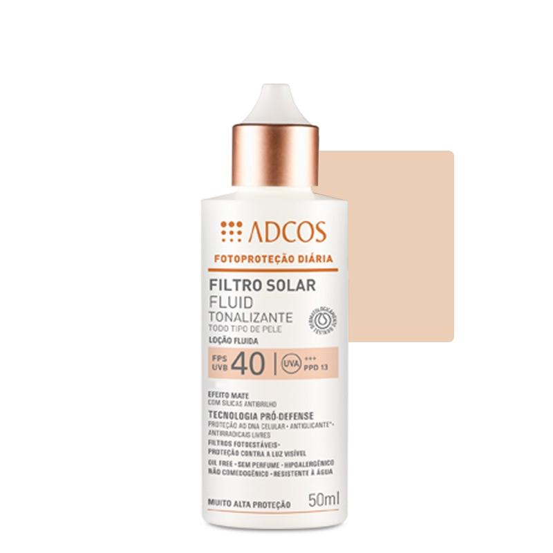 Adcos Professional Filtro Solar Tonalizante FPS 40 Fluid Ivory 50ml