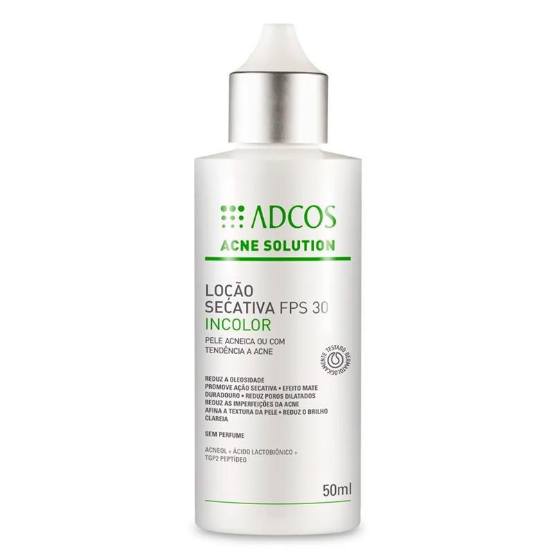 Adcos Profissional Acne Solution Loção Secativa FPS 30 incolor 50ml