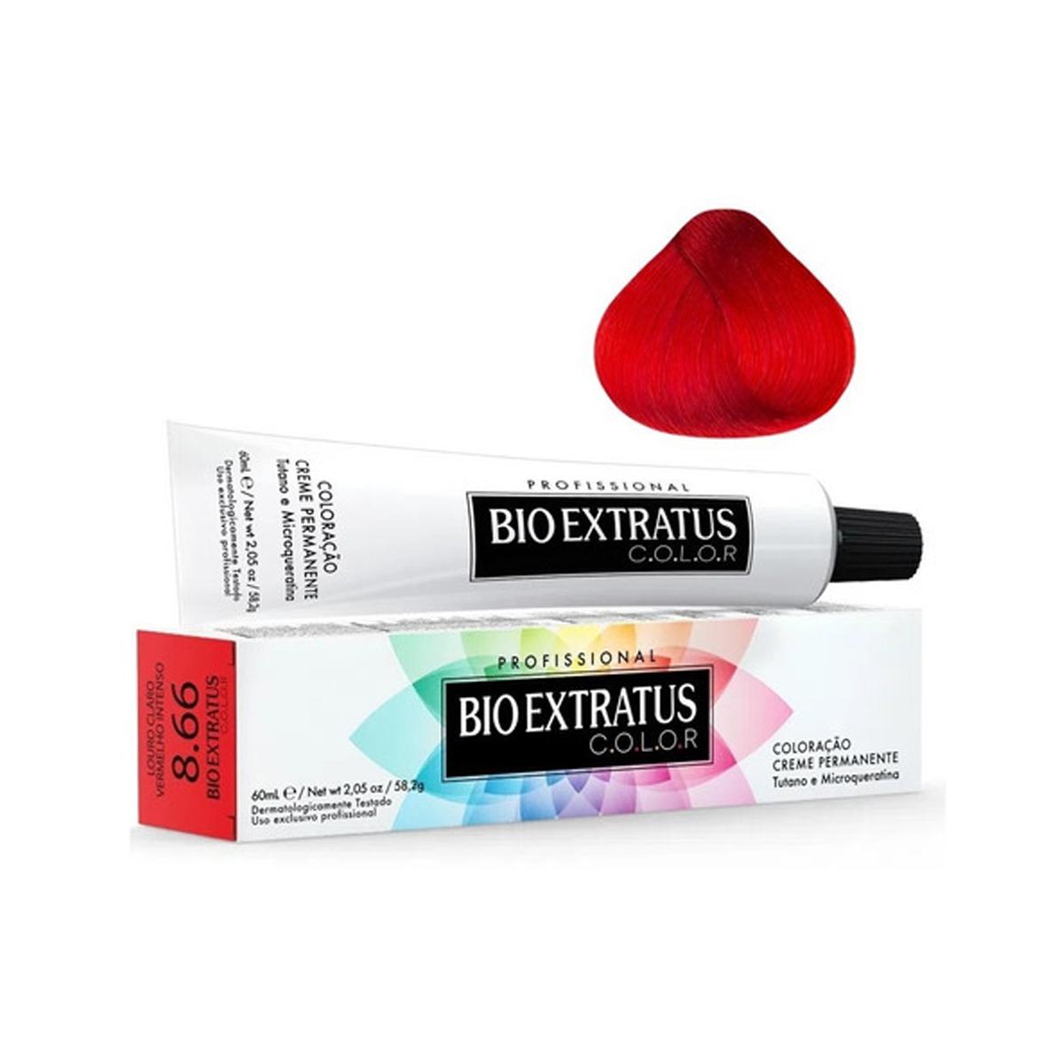 Bio Extratus Coloração 8.66 Louro Claro Vermelho Intenso 60mL