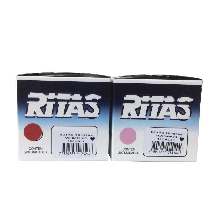 Botao De Pressão Plastico Ritas,com 200 botões . Nº 10 (CORAÇÃO)