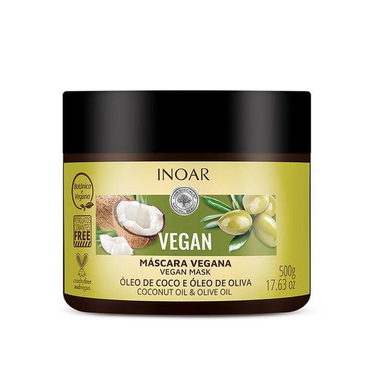 Inoar Máscara Vegan Multiuso Oleo de Coco 500gr