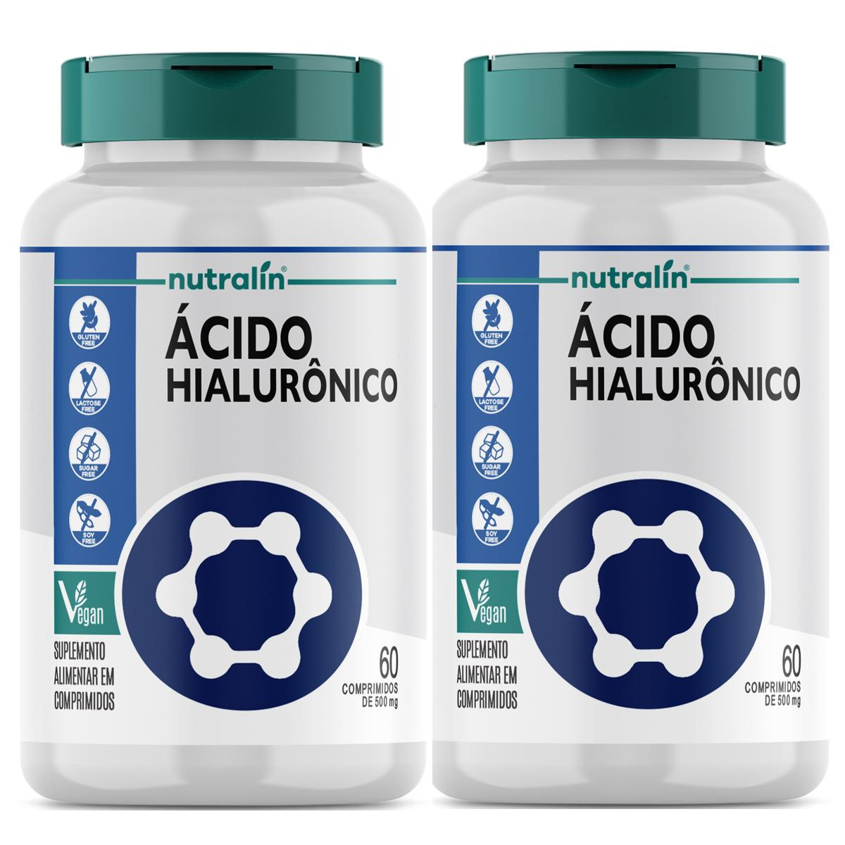 Kit Ácido Hialuronico Nutralin  60 cápsulas  c/ 2 potes