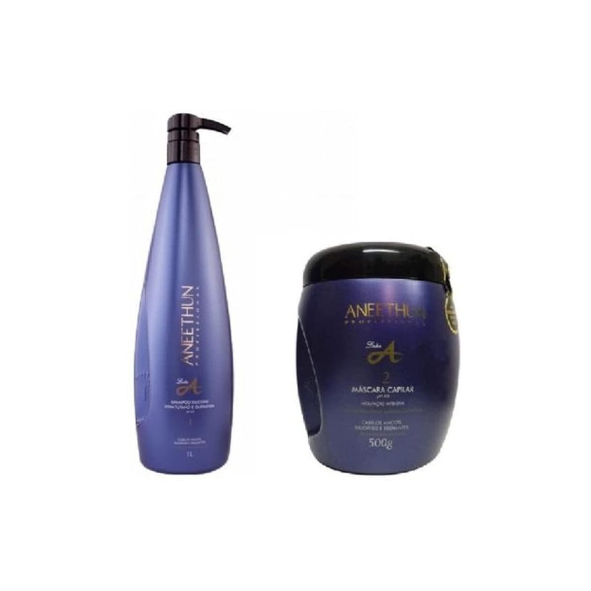 Kit Aneethun Linha A Shampoo 1l e Másc. 500gr