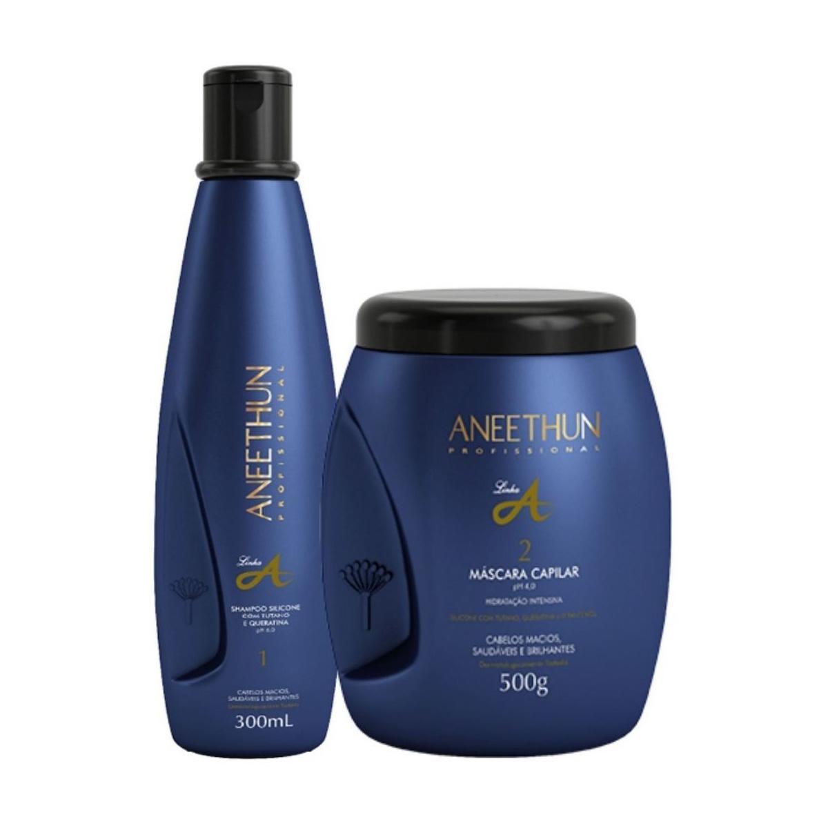 Kit Aneethun Linha A Shampoo 300ml e Máscara 500gr