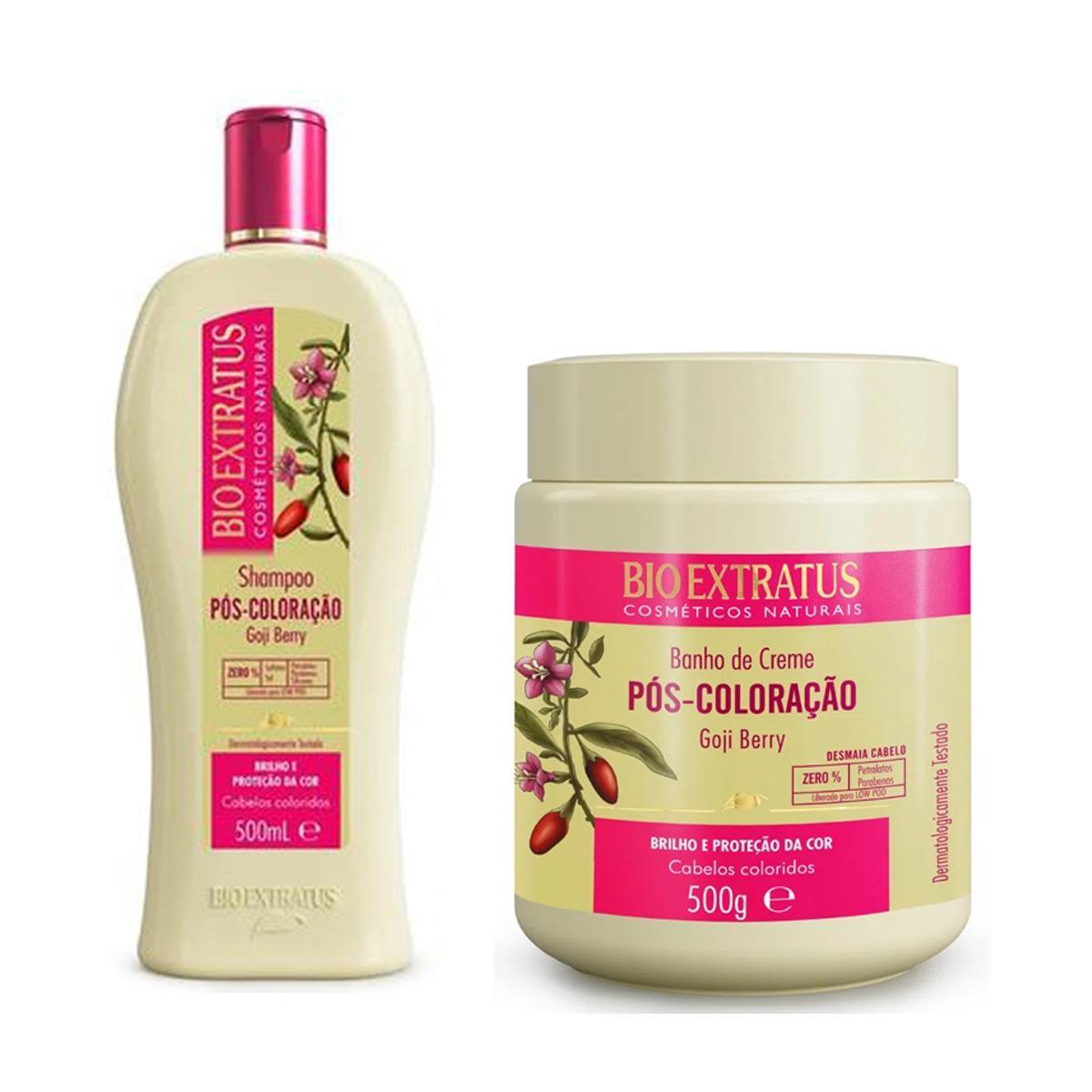 Kit Bio Extratus Pós Coloração Shampoo500ml e Máscara500gr