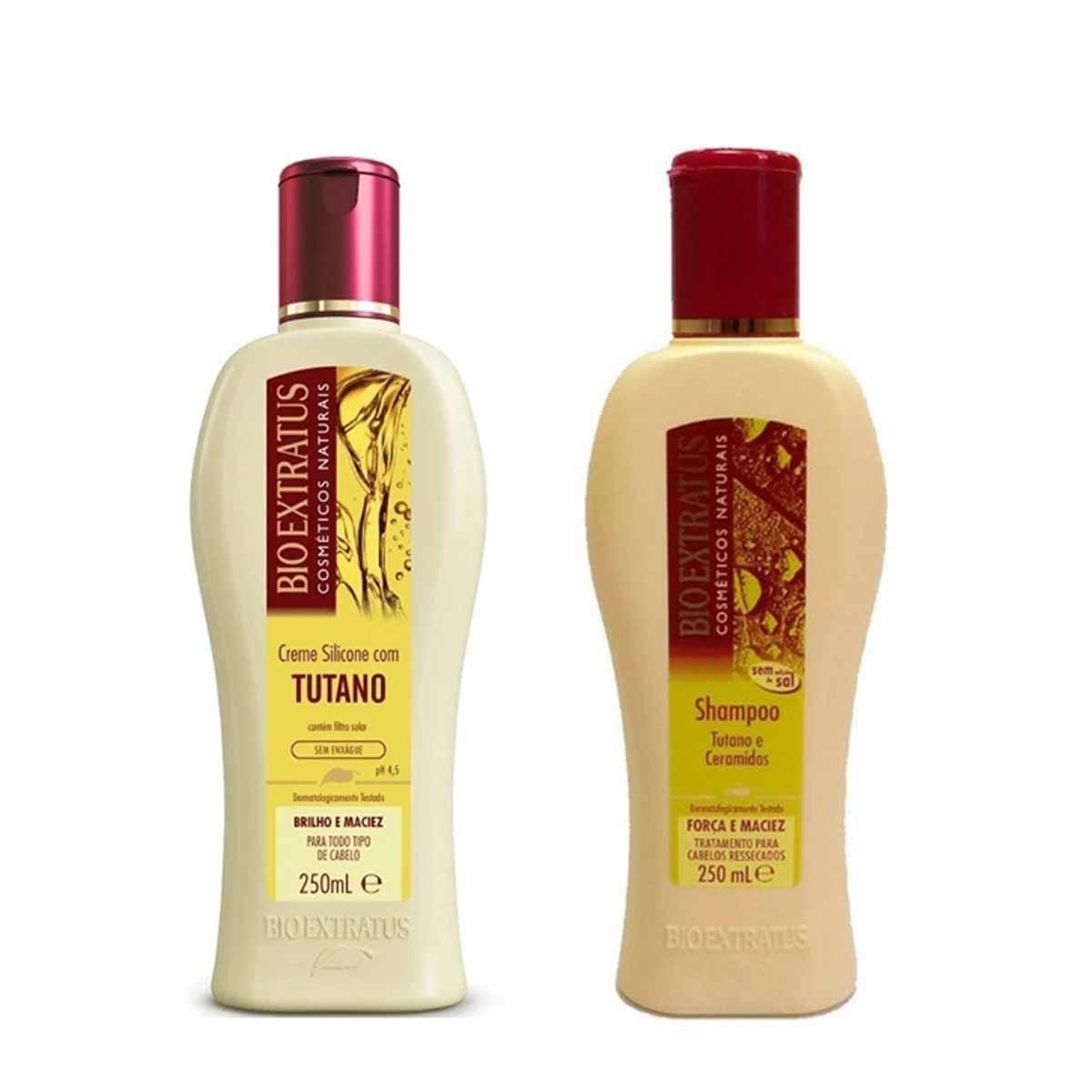 Kit Bio Extratus Tutano Shampoo 250ml e Creme de Silicone 250ml