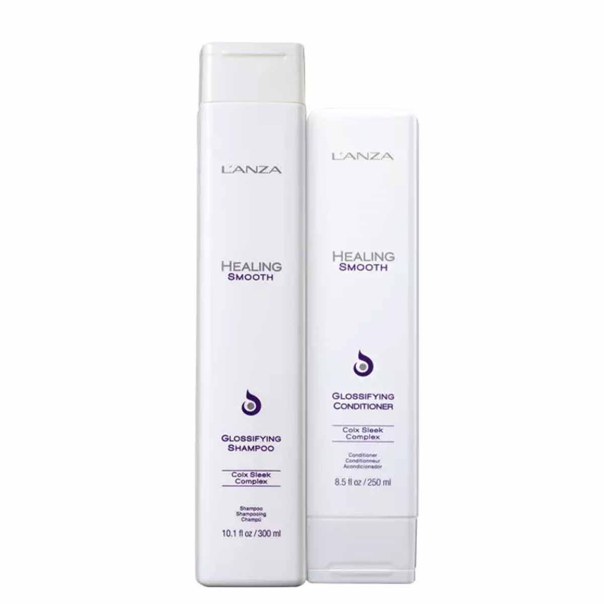 Kit Lanza Healing Smooth Glossifying Sh.300ml e Cond.250ml Anti Frizz