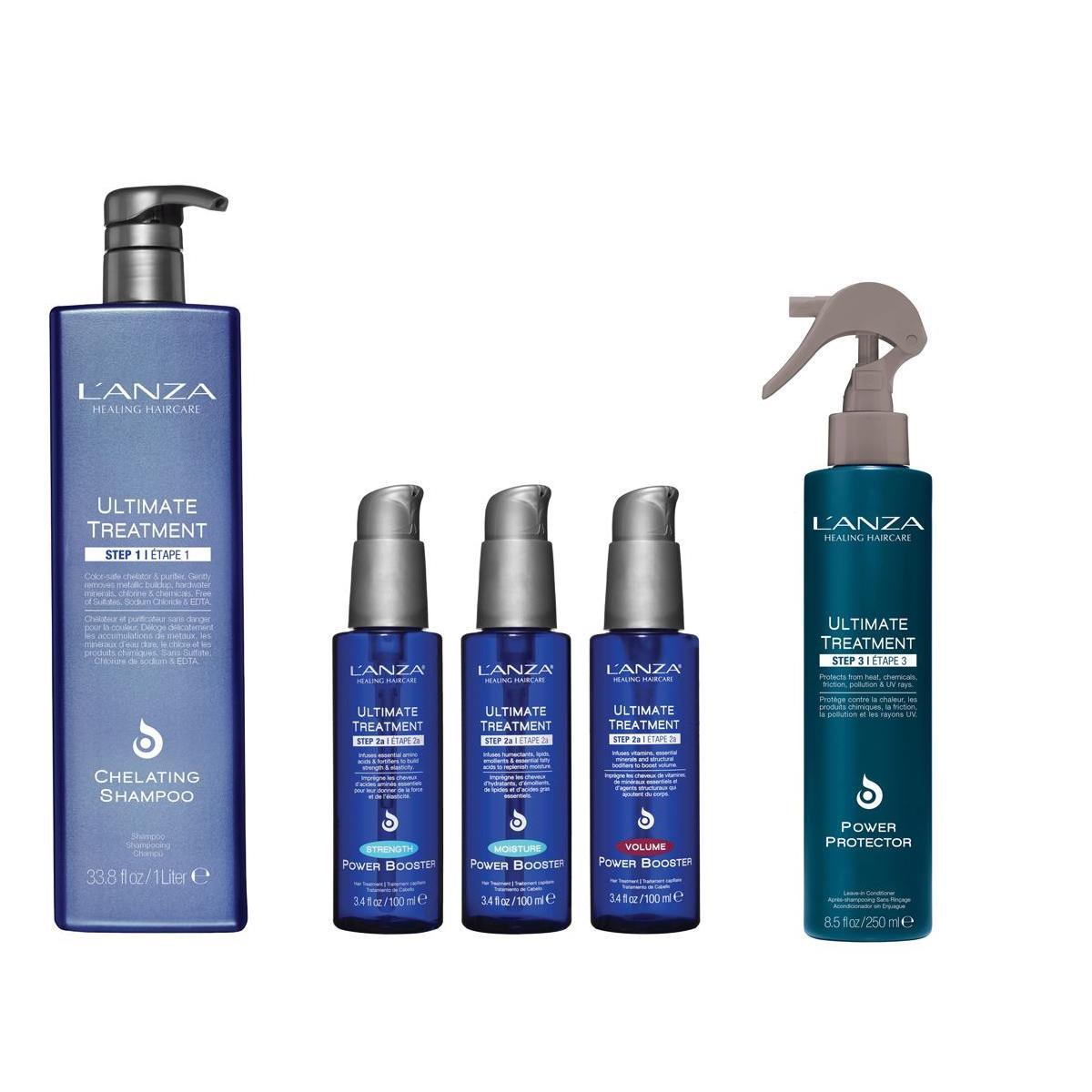 Kit Lanza Treatment Shampoo 1L Power Protector250ml e 3 Booster 100ml