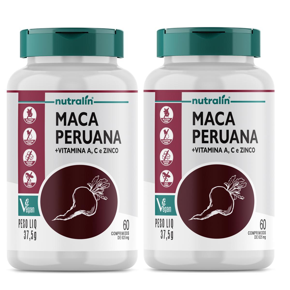 Kit Maca Peruana Nutralin c/60 cápsulas 2 potes