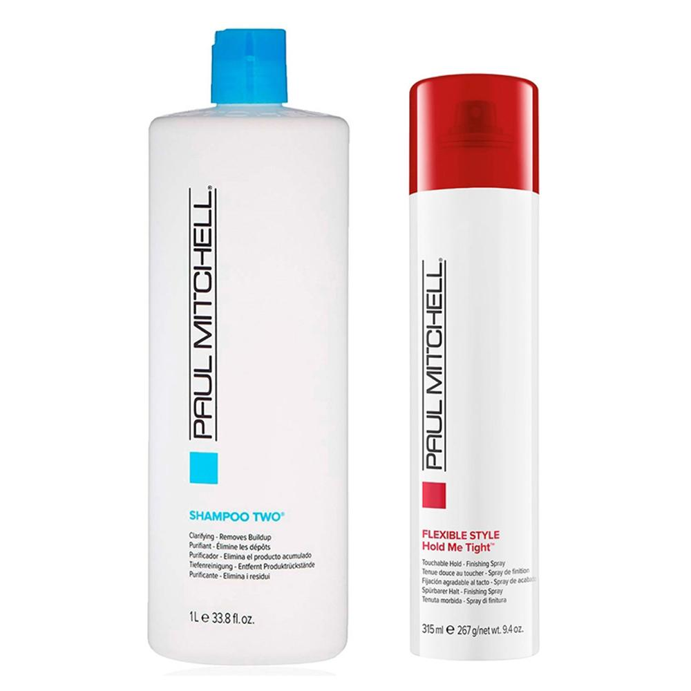 Kit Paul Mitchell Shampoo Two 1L e Express Style Hold Me Tight 315ml