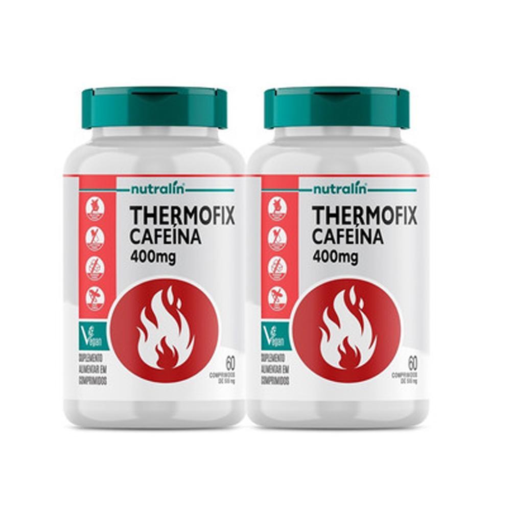 Kit Thermofix Cafeína Termogênico c 60 Cápsulas  2 potes Nutralin
