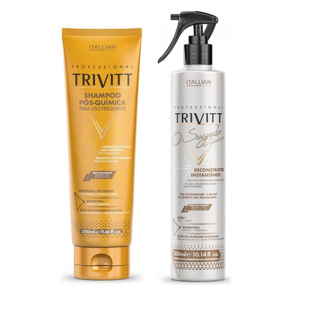 Kit Trivit Shampoo Pós Quimica + Segredo do Cabeleireiro300ml