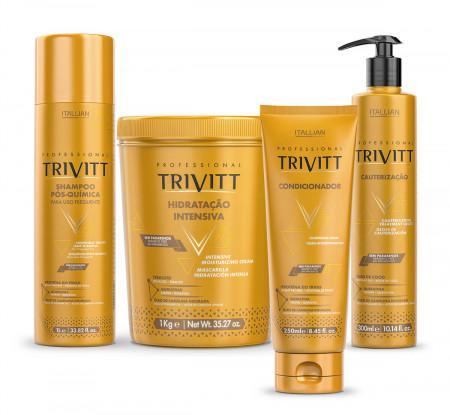 Kit Trivitt  Profissional 4 passos( Sh. + Másc.+Cauterização+Leave In)