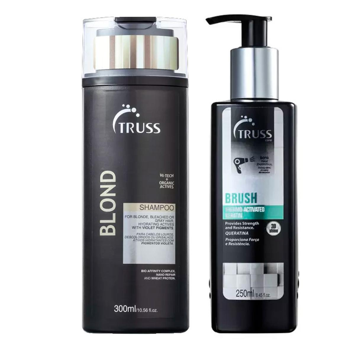 Kit Truss Blond Shampoo300ml e Brush250ml