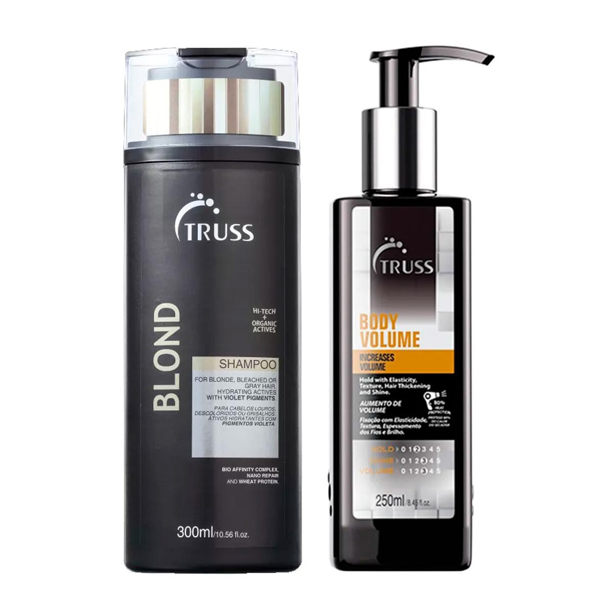 Kit Truss Blond Shampoo 300ml e Body Volume 250ml