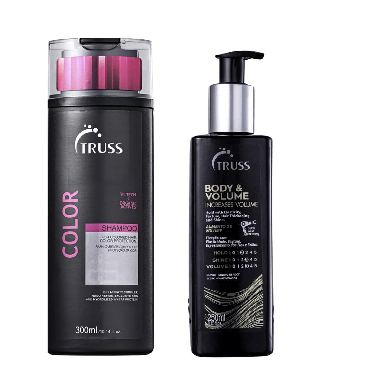 Kit Truss Shampoo Color 300ml e Body Volume 250ml