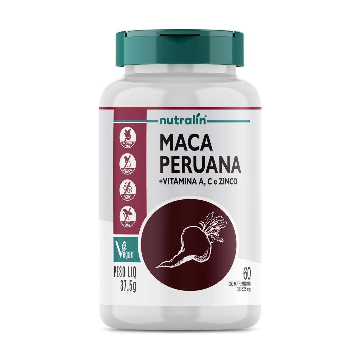 Maca Peruana Suplemento Nutralin 60 Caps. 625mg