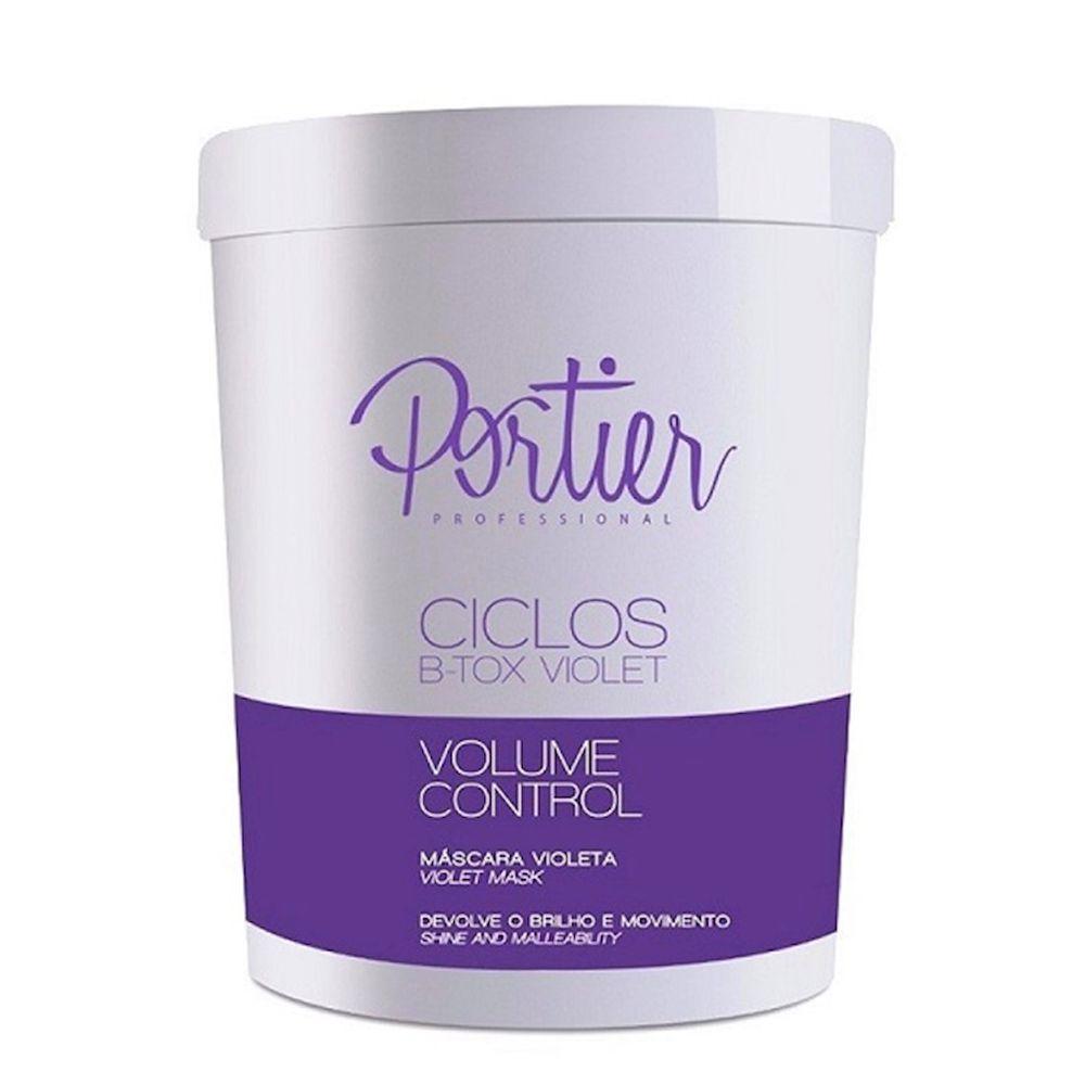 Portier Ciclos Violet Volume Control Máscara Alisante Matizadora 1kg