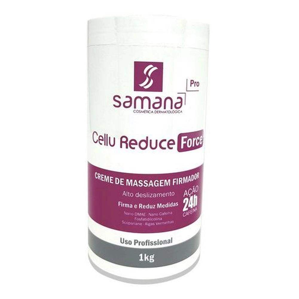 Samana Cellu Reduce Force Creme Massagem Lipo 24H 1kg