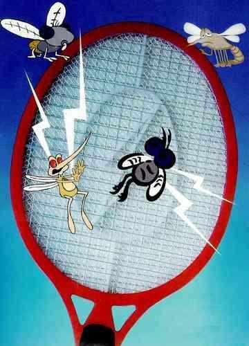 Raquete Mata Insetos Mosquitos e Pernilongos Recarregável 110V / 220V Bivolt