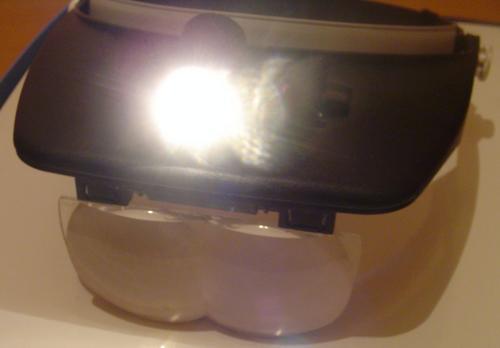 Lupa de Cabeça com Iluminação Convencional 4 Lentes