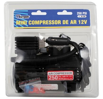 Mini Compressor de Ar - 250 PSI para Pneus, Bolas e Infláveis - Western - W-250